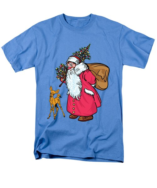 Men's T-Shirt  (Regular Fit) featuring the painting Merry Christmas. by Andrzej Szczerski