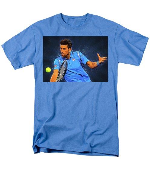 Novak Djokovic Men's T-Shirt  (Regular Fit) by Semih Yurdabak