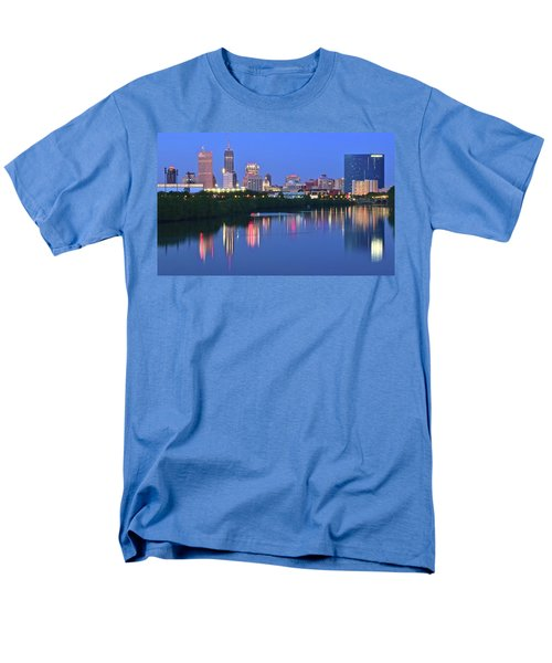 Panoramic Indianapolis Men's T-Shirt  (Regular Fit) by Frozen in Time Fine Art Photography
