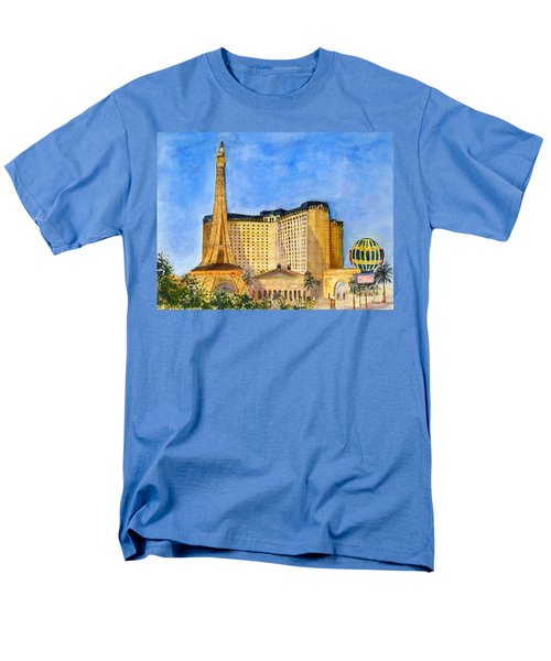 Paris Hotel And Casino Men's T-Shirt  (Regular Fit) by Vicki  Housel