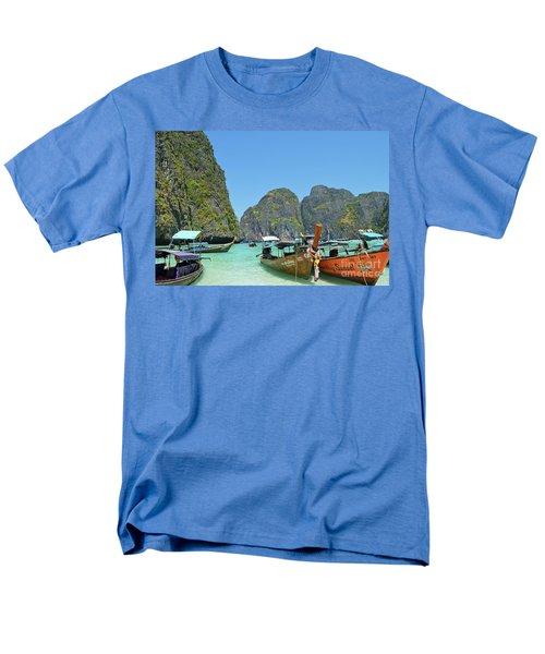 Men's T-Shirt  (Regular Fit) featuring the digital art Phi Phi Islands 3 by Eva Kaufman