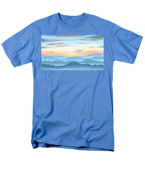 Men's T-Shirt  (Regular Fit) featuring the painting Sunrise by Veronica Minozzi