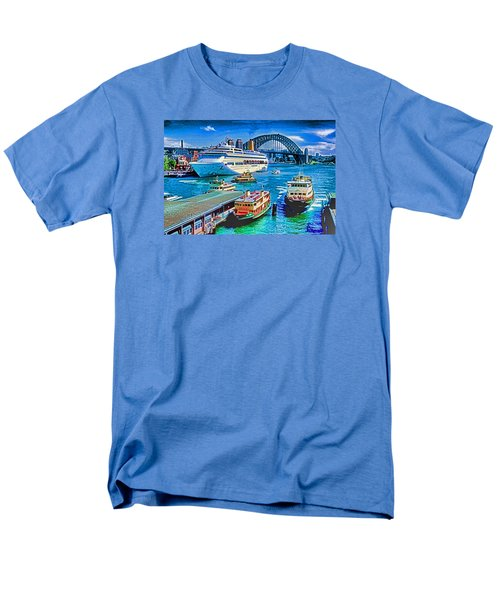 Men's T-Shirt  (Regular Fit) featuring the photograph Sydney Quay by Dennis Cox WorldViews