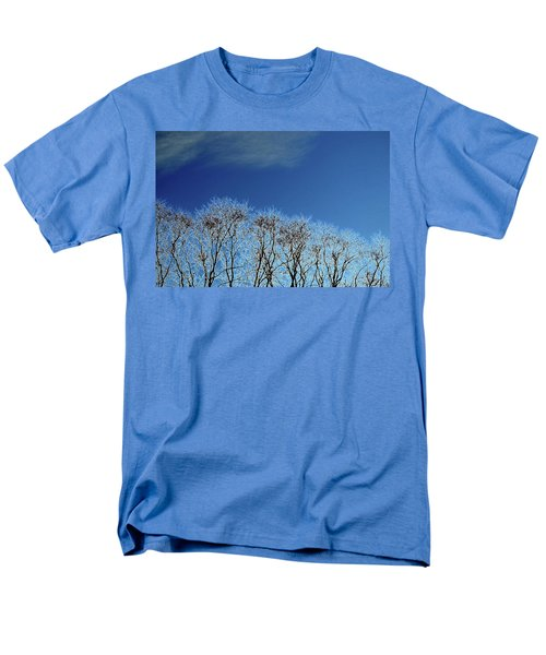 Winter Trees And Sky 3  Men's T-Shirt  (Regular Fit) by Lyle Crump
