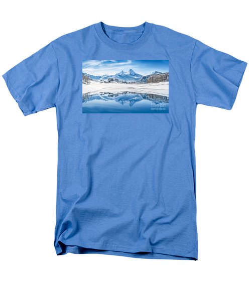 Winter Wonderland In The Alps Men's T-Shirt  (Regular Fit) by JR Photography