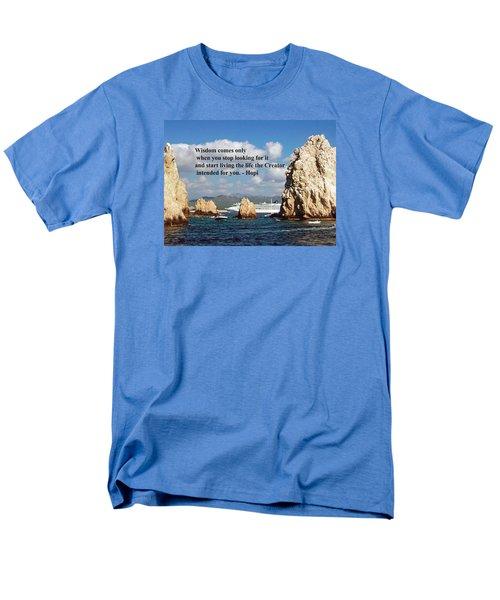 Wisdom Men's T-Shirt  (Regular Fit) by Gary Wonning