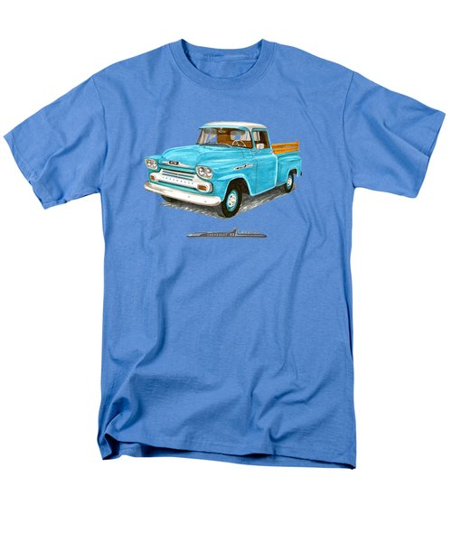 Men's T-Shirt  (Regular Fit) featuring the painting 1958 Chevrolet Apache Pick Up by Jack Pumphrey