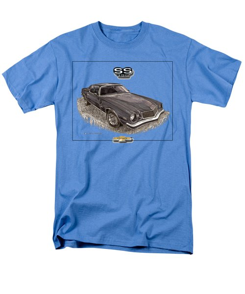 Men's T-Shirt  (Regular Fit) featuring the painting 1976 Camaro S S 396 Tee Shirt by Jack Pumphrey