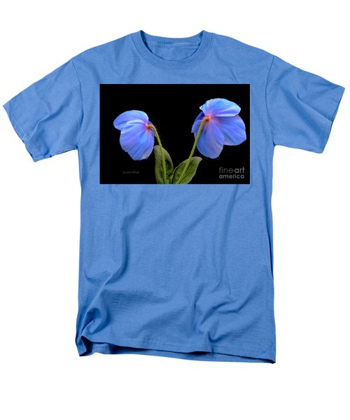 Blue Poppies Men's T-Shirt  (Regular Fit) by Jeannie Rhode