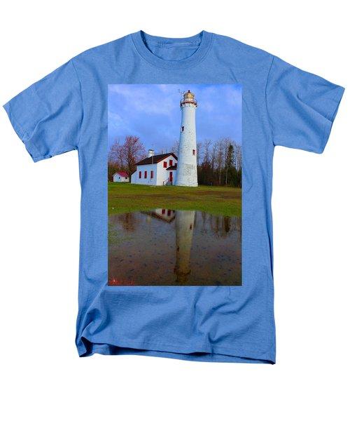 Sturgeon Point Lighthouse Men's T-Shirt  (Regular Fit) by Michael Rucker