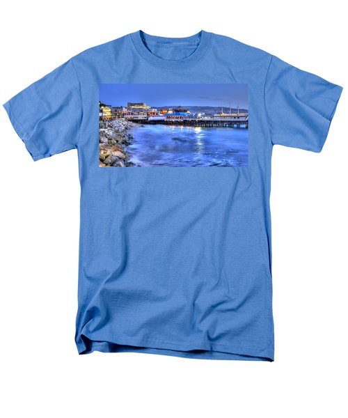 Redondo Landing At Night Men's T-Shirt  (Regular Fit) by Richard J Cassato