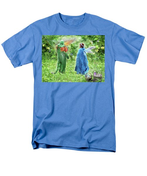 Men's T-Shirt  (Regular Fit) featuring the digital art A Dragon Confides In A Fairy by Lise Winne