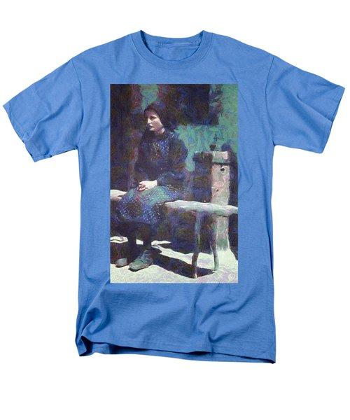 Men's T-Shirt  (Regular Fit) featuring the digital art A Moment Of Meditation by Gun Legler