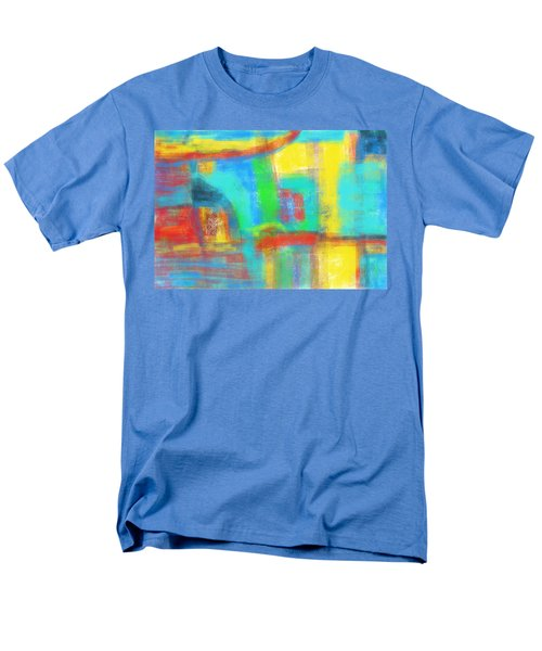 Men's T-Shirt  (Regular Fit) featuring the painting A Yellow Day by Susan Stone