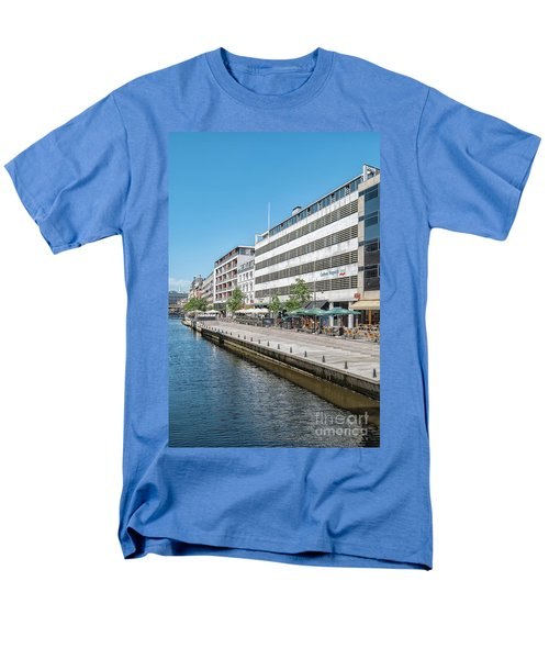 Men's T-Shirt  (Regular Fit) featuring the photograph Aarhus Canal Scene by Antony McAulay