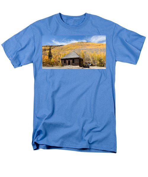 Men's T-Shirt  (Regular Fit) featuring the photograph Abandoned Cabin Near The Old Mining Town Of Ironton by Carol M Highsmith