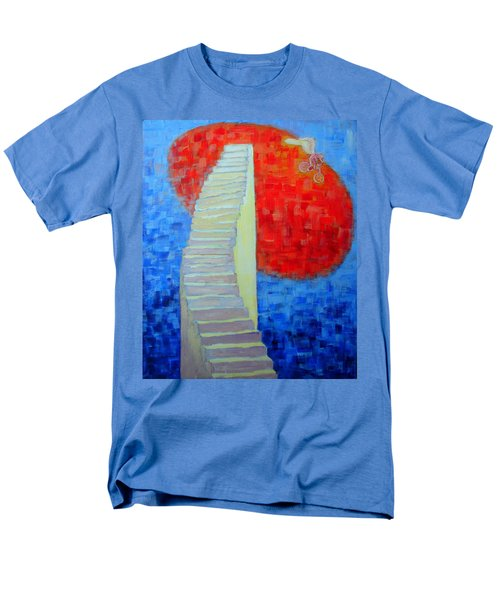 Men's T-Shirt  (Regular Fit) featuring the painting Abstract Moon by Ana Maria Edulescu