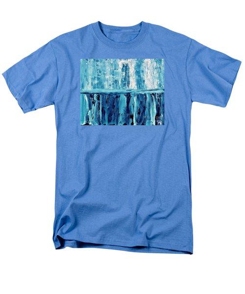 Abstract Niagra Falls Men's T-Shirt  (Regular Fit) by Marsha Heiken