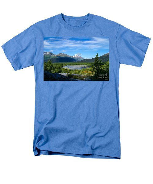 Alaska's Exit Glacier Valley Men's T-Shirt  (Regular Fit) by Jennifer White
