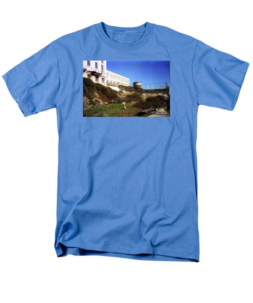 Alcatraz Water Tank Prison  Men's T-Shirt  (Regular Fit) by Ted Pollard