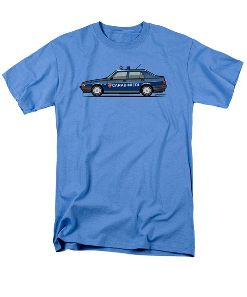 Alfa Romeo 75 Tipo 161, 162b Milano Carabinieri Italian Police Car Men's T-Shirt  (Regular Fit) by Monkey Crisis On Mars