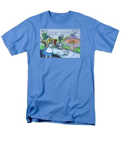 Alien In Wonderland Men's T-Shirt  (Regular Fit)