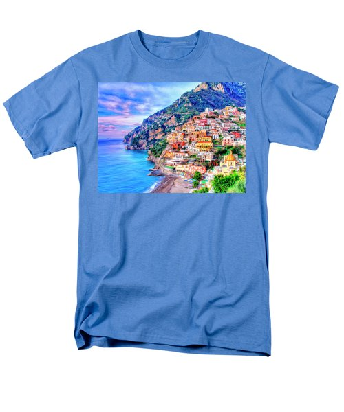 Amalfi Coast At Positano Men's T-Shirt  (Regular Fit) by Dominic Piperata