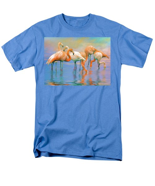 American Flamingos Men's T-Shirt  (Regular Fit) by Brian Tarr