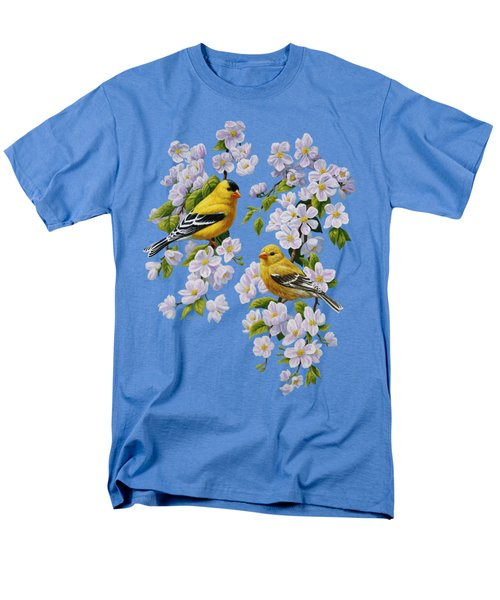 American Goldfinch Spring Men's T-Shirt  (Regular Fit) by Crista Forest