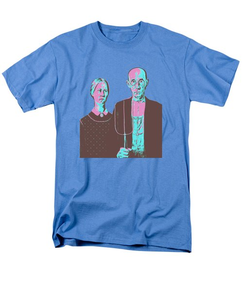 American Gothic Grant Wood Pop Art Tee Men's T-Shirt  (Regular Fit) by Edward Fielding