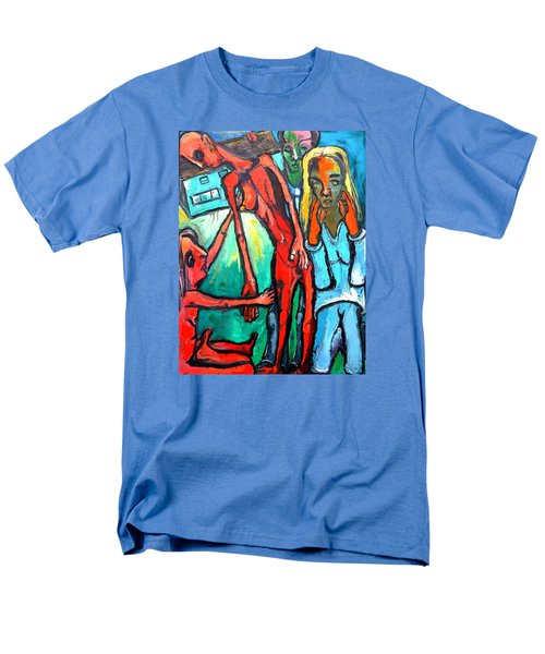 Men's T-Shirt  (Regular Fit) featuring the painting And Remember To Be Kind by Kenneth Agnello