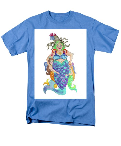 Men's T-Shirt  (Regular Fit) featuring the painting Angels Swim Among Us by Rosemary Aubut