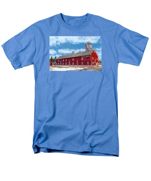 Men's T-Shirt  (Regular Fit) featuring the painting Anken's Barn by Lynne Reichhart