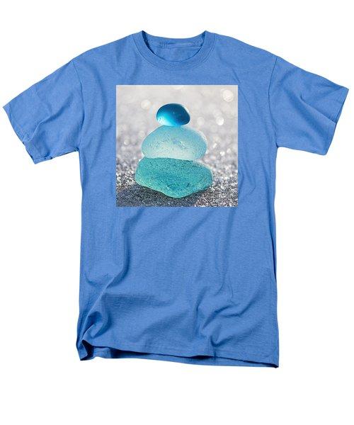 Aquamarine Ice Men's T-Shirt  (Regular Fit) by Barbara McMahon