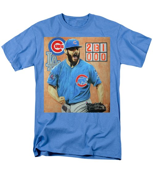 Men's T-Shirt  (Regular Fit) featuring the drawing Arrieta No Hitter - Vol. 1 by Melissa Goodrich