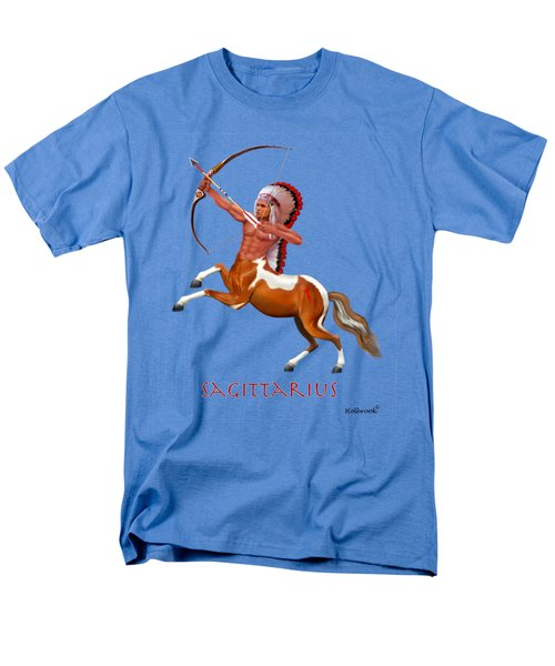 Native American Sagittarius Men's T-Shirt  (Regular Fit) by Glenn Holbrook