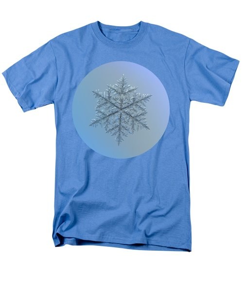 Men's T-Shirt  (Regular Fit) featuring the photograph Snowflake Photo - Majestic Crystal by Alexey Kljatov
