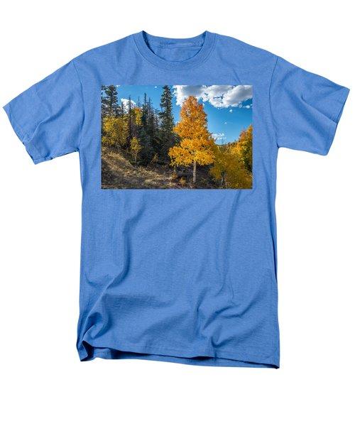 Aspen Tree In Fall Colors San Juan Mountains, Colorado. Men's T-Shirt  (Regular Fit) by John Brink