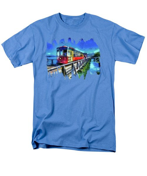 Astoria Riverfront Trolley Men's T-Shirt  (Regular Fit) by Thom Zehrfeld