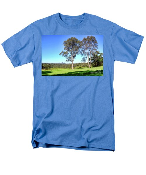 Men's T-Shirt  (Regular Fit) featuring the photograph Aussie Gum Tree Landscape By Kaye Menner by Kaye Menner
