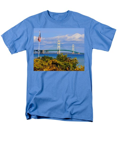 Autumn Bridge Men's T-Shirt  (Regular Fit) by Keith Stokes