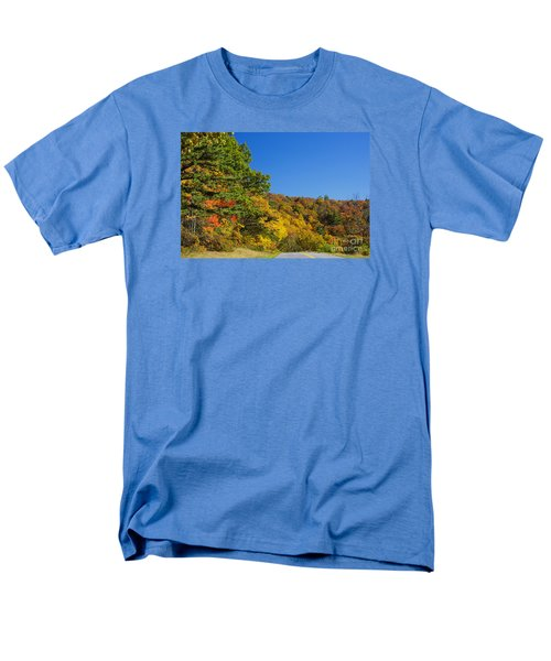 Autumn Country Roads Blue Ridge Parkway Men's T-Shirt  (Regular Fit) by Nature Scapes Fine Art