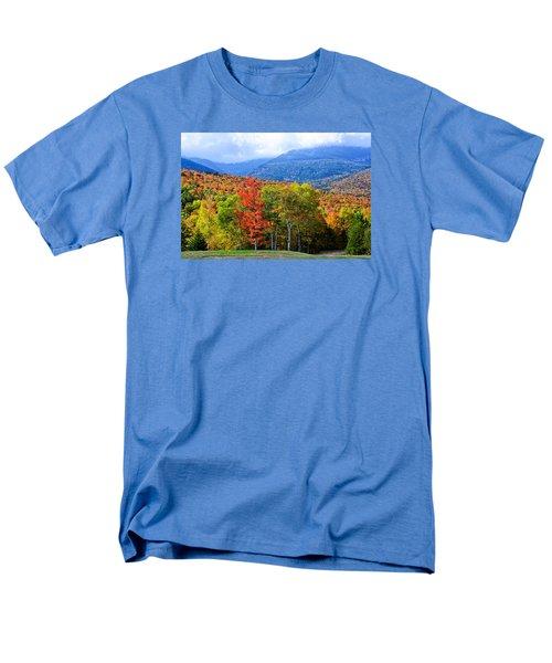 Autumn White Mountains Nh Men's T-Shirt  (Regular Fit) by Michael Hubley