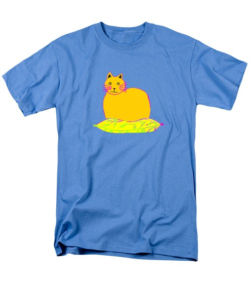 Background Colour Choice Saffron Cat Men's T-Shirt  (Regular Fit) by Barbara Moignard