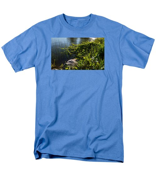Men's T-Shirt  (Regular Fit) featuring the photograph Backlight Plants By The Water  by Lyle Crump