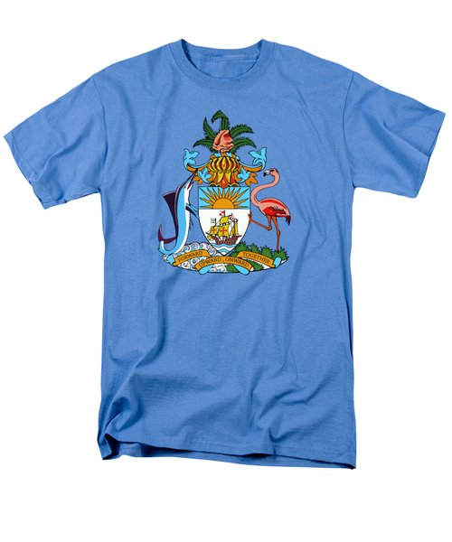 Men's T-Shirt  (Regular Fit) featuring the drawing Bahamas Coat Of Arms by Movie Poster Prints