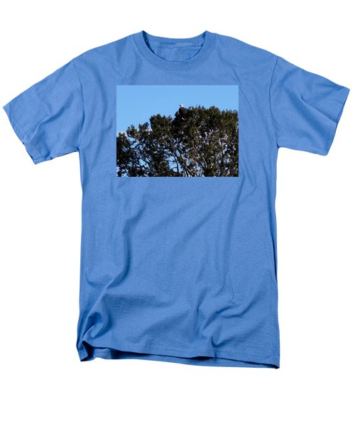 Men's T-Shirt  (Regular Fit) featuring the photograph Bald Eagle In Juniper by Deborah Moen