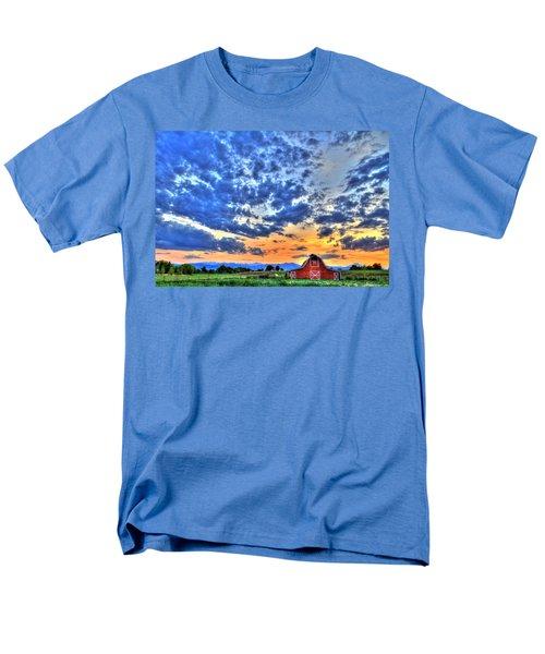 Barn And Sky Men's T-Shirt  (Regular Fit) by Scott Mahon