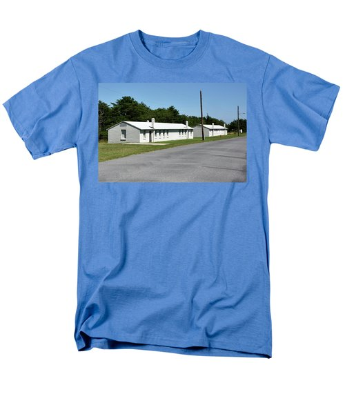 Men's T-Shirt  (Regular Fit) featuring the photograph Barracks At Fort Miles - Cape Henlopen State Park by Brendan Reals