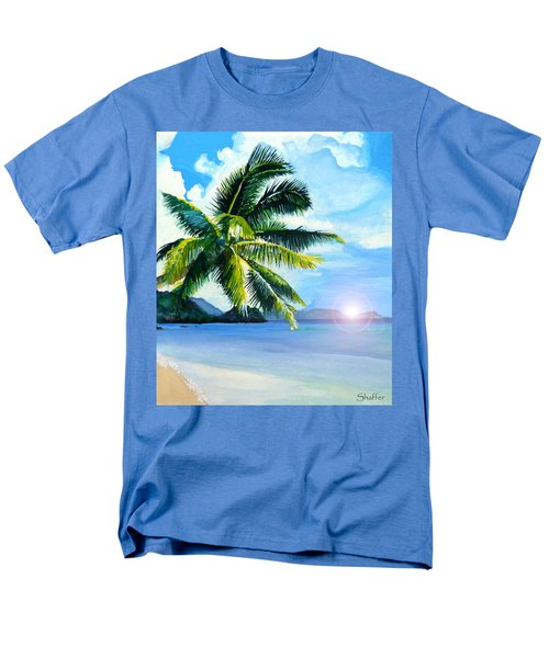 Men's T-Shirt  (Regular Fit) featuring the painting Beach Scene by Curtiss Shaffer
